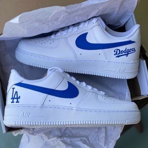 LA Dodgers Custom Air Force Ones